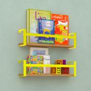 Prateleira Box em Aço e MDF 45x10cm Amarela - DiCarlo