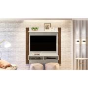 """Painel para TV 42"""" Home Capri MDP Off White e Nogueira - Linea"""