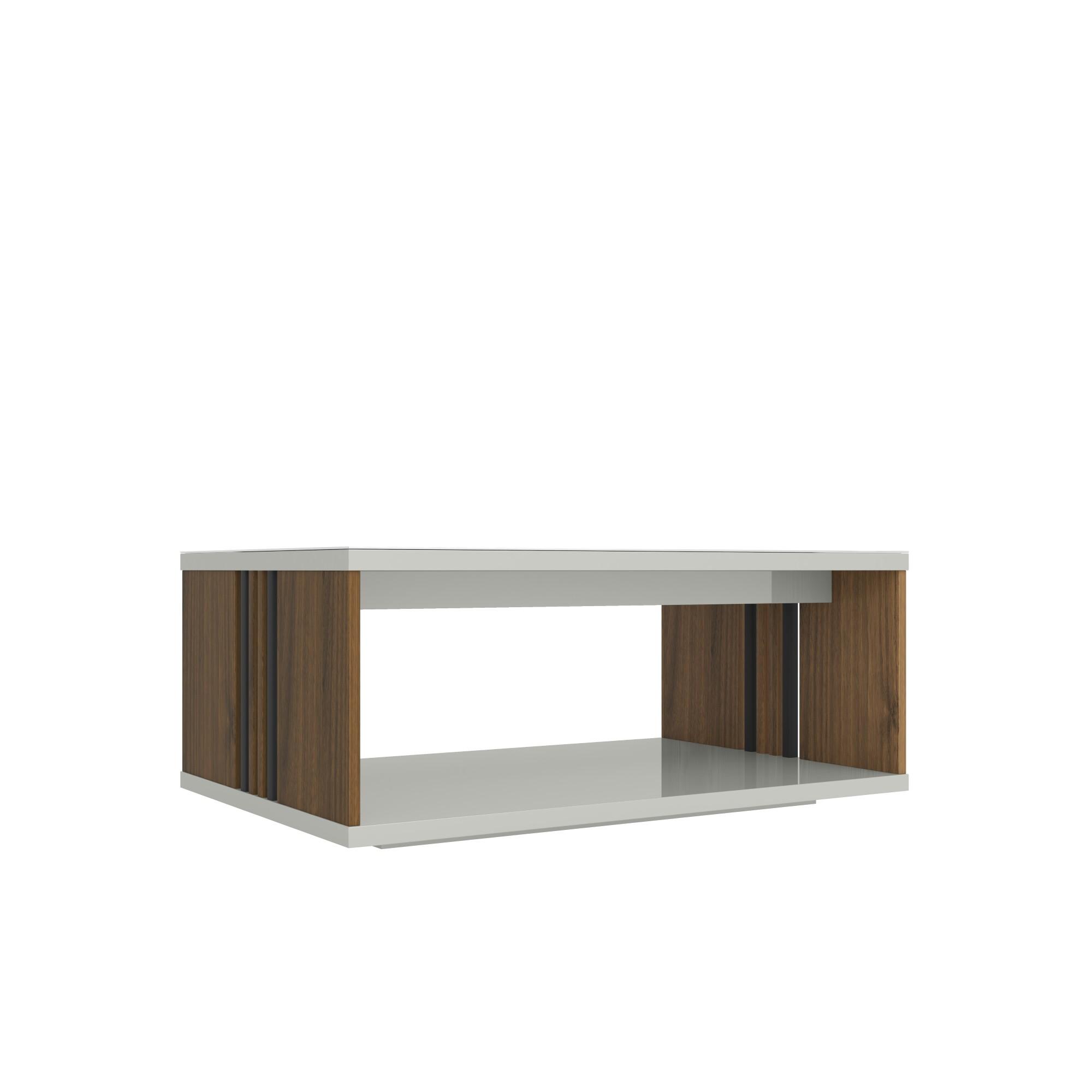 Mesa de Centro 90x60cm Bonito Off-white - Linea