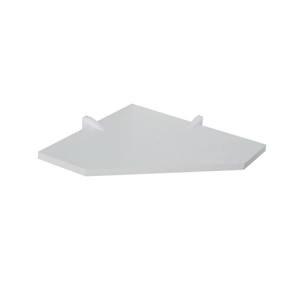 Prateleira de Canto MDP com Suporte 35x35cm Branca - D-Core