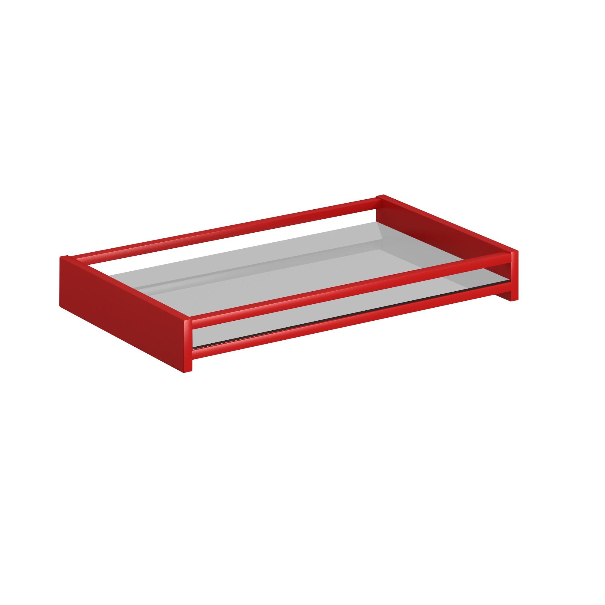 Bandeja Retangular 49x26cm Vermelha Elegance - Helo Moveis