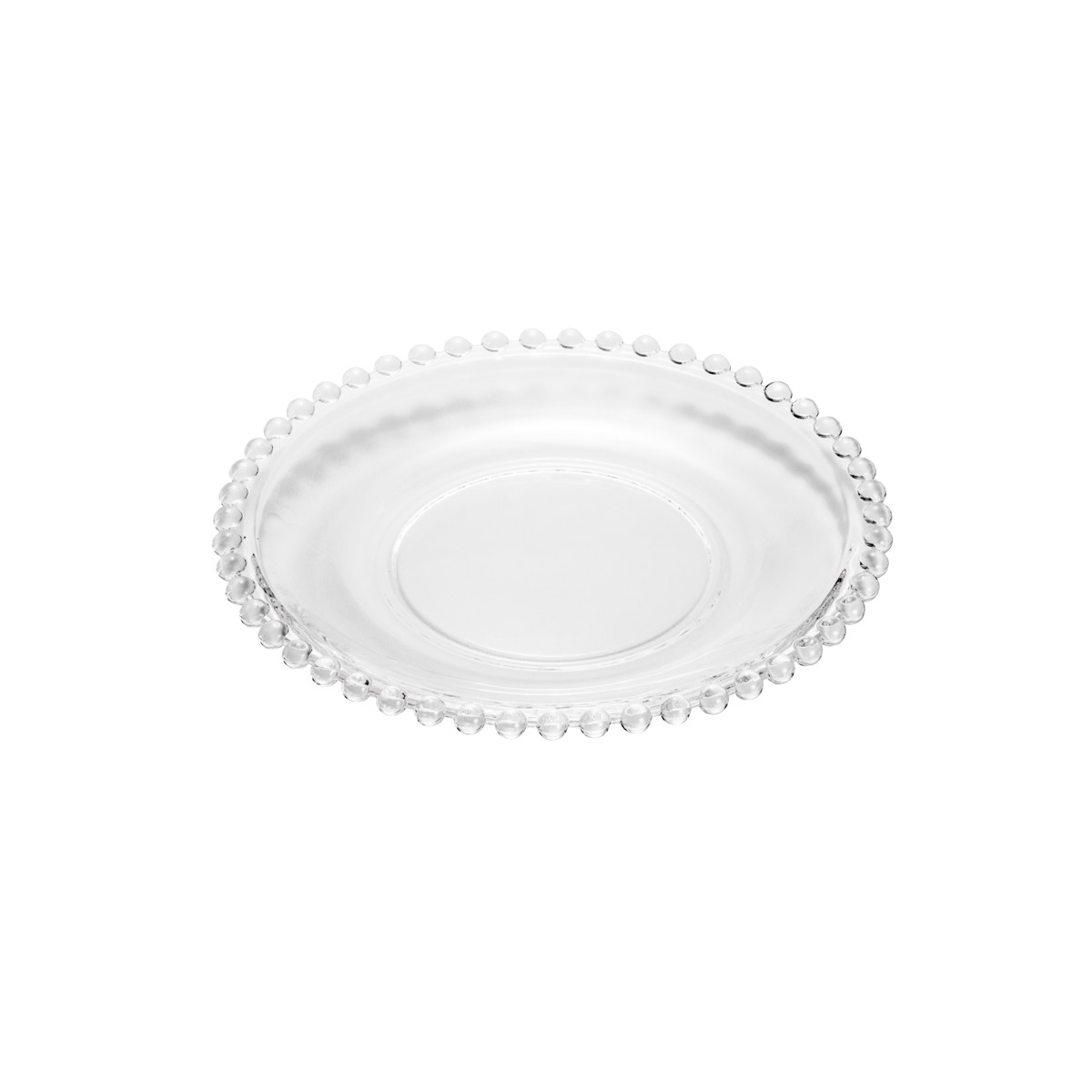 Prato de Sobremesa Wolff Transparente 20cm - Rojemac