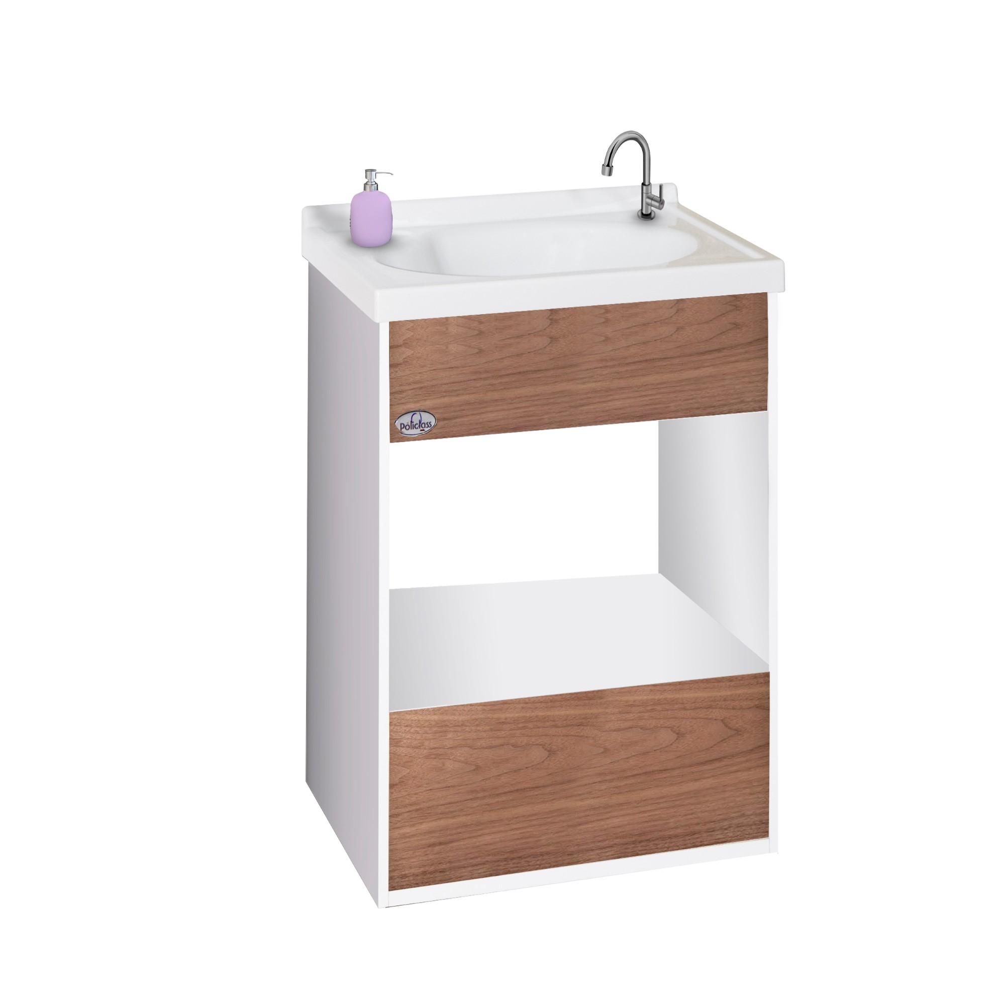 Gabinete para Banheiro 56x385cm Delicato Pop 114010426 - Policlass