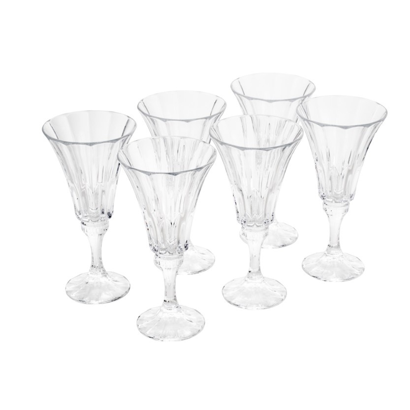 Jogo de Tacas para Agua de Cristal 6 Pecas 280ml Bohemia Transparente - Rojemac