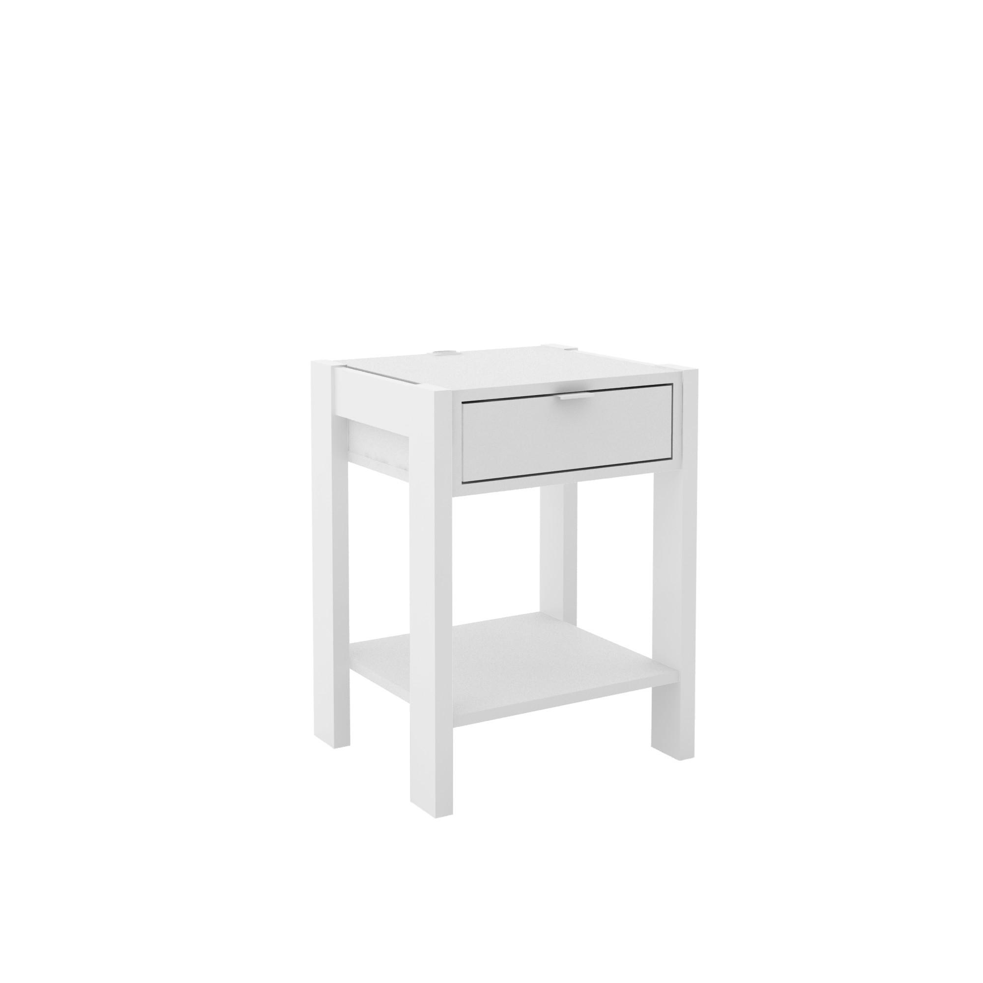 Mesa de Cabeceira 41x545cm 1 Gaveta Branco - Tecnomobili