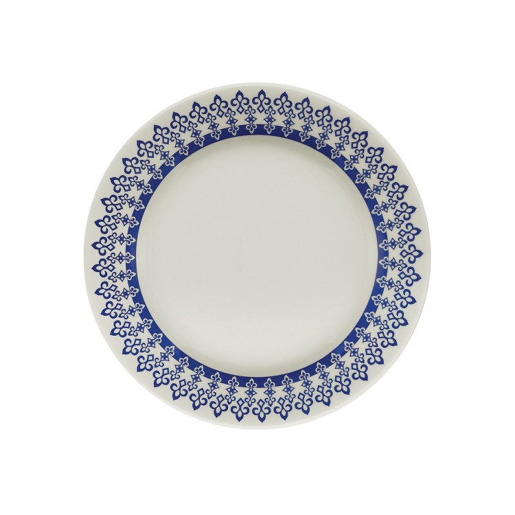 Prato de Sobremesa Redondo em Ceramica Grecia Azul 19cm - Biona
