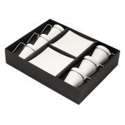 Jogo de Xícaras de Café com Pires Porcelana 6 Peças 80ml 17069 - Rojemac