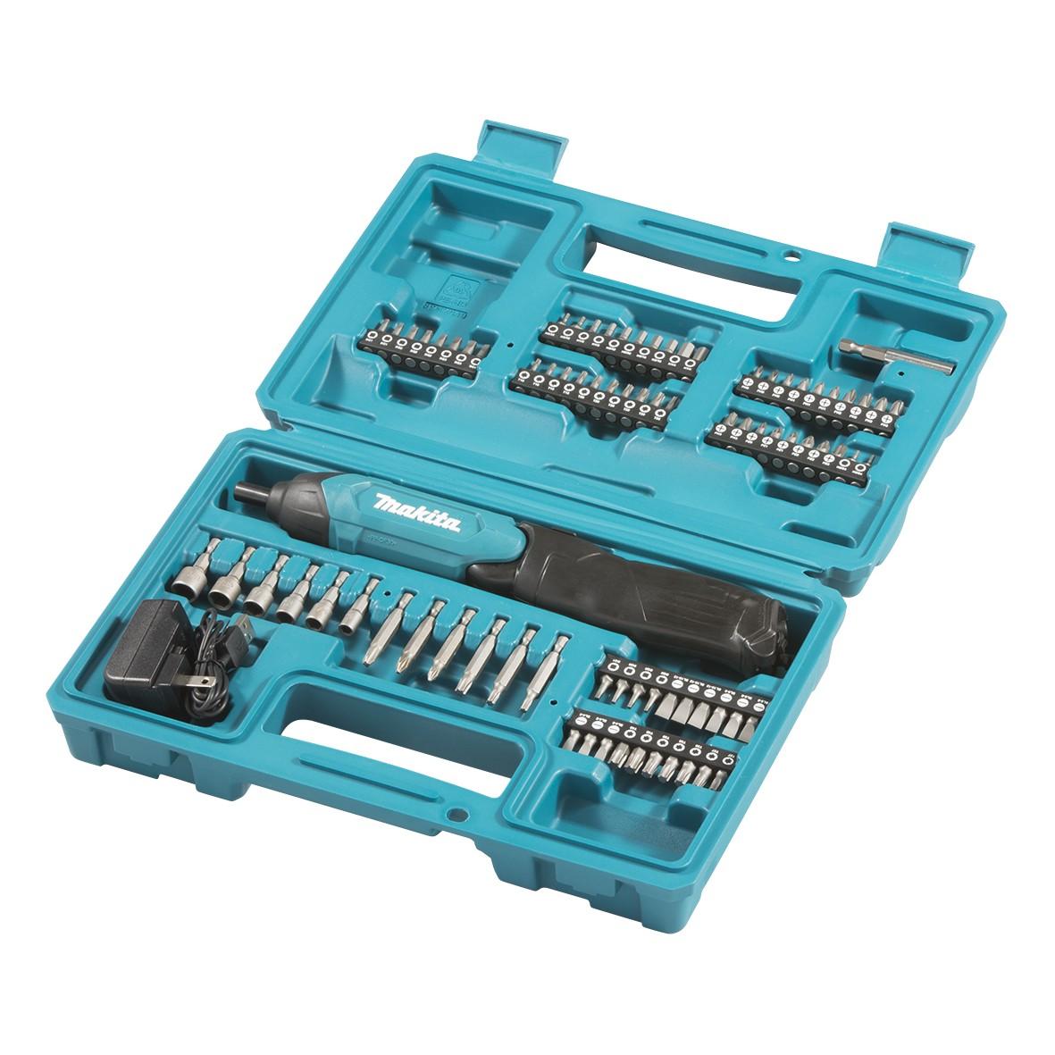 Parafusadeira a Bateria Sextavado 14 36V com 80 Acessorios DF001 DW - Makita