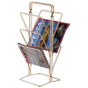 Porta-revista 20x50cm Cromado Rosé Gold - Future