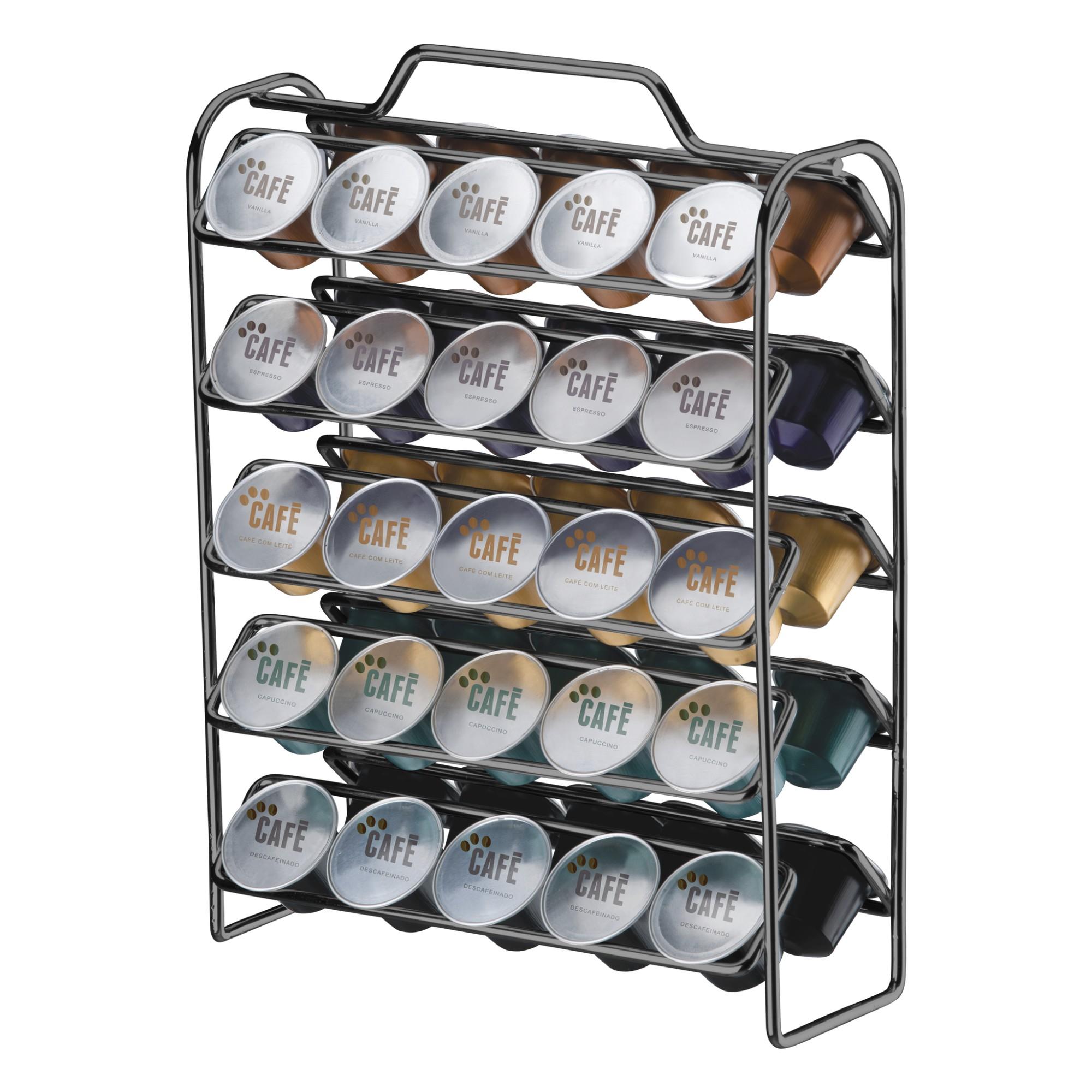 Porta-capsula de Cafe Nespresso para 50 Capsulas Prata - Future