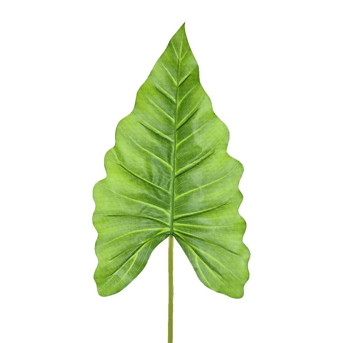 Haste Artificial Folha Orelha de Elefante 87cm Verde