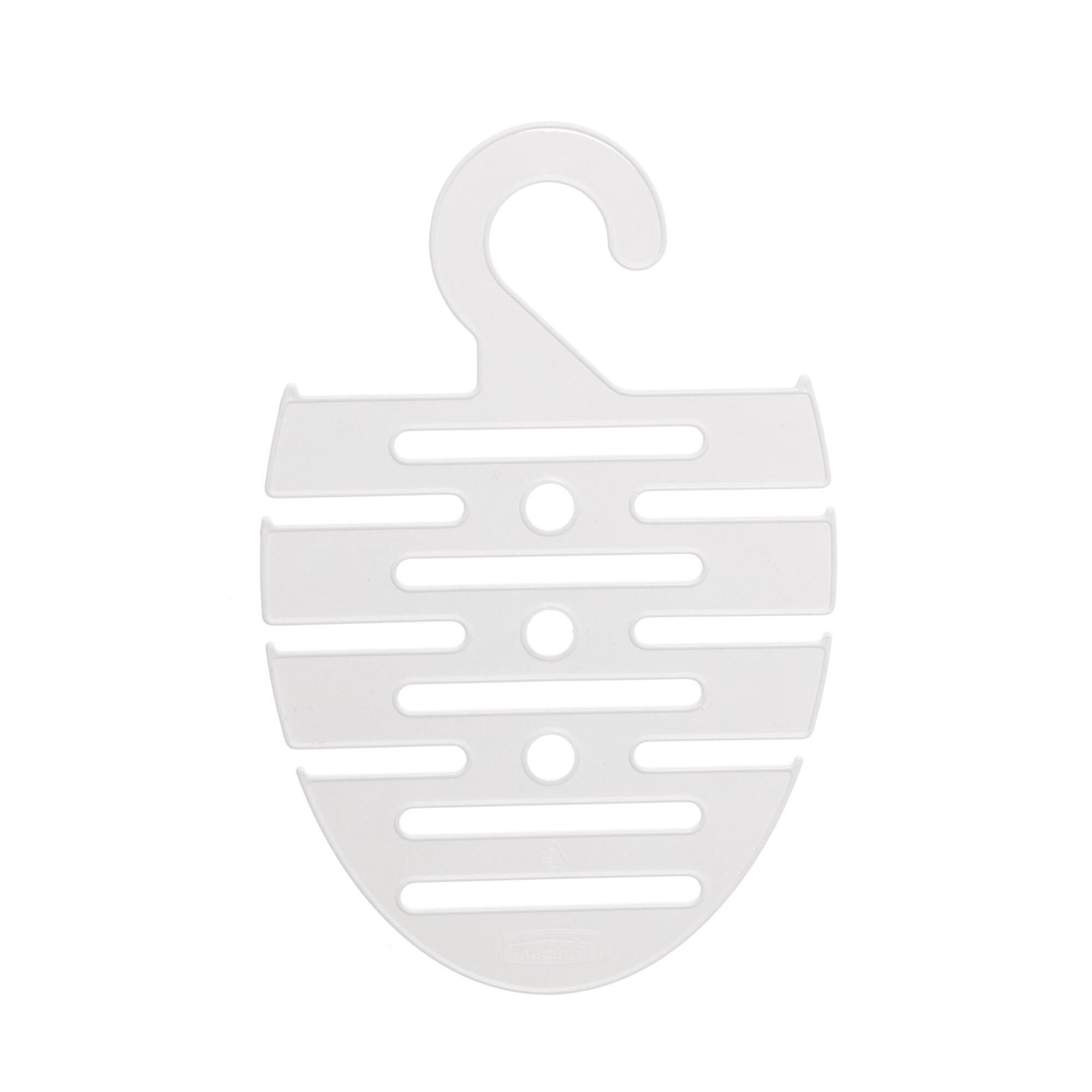Cabide para Gravata de Plastico 14 cm Branco - Metaltru