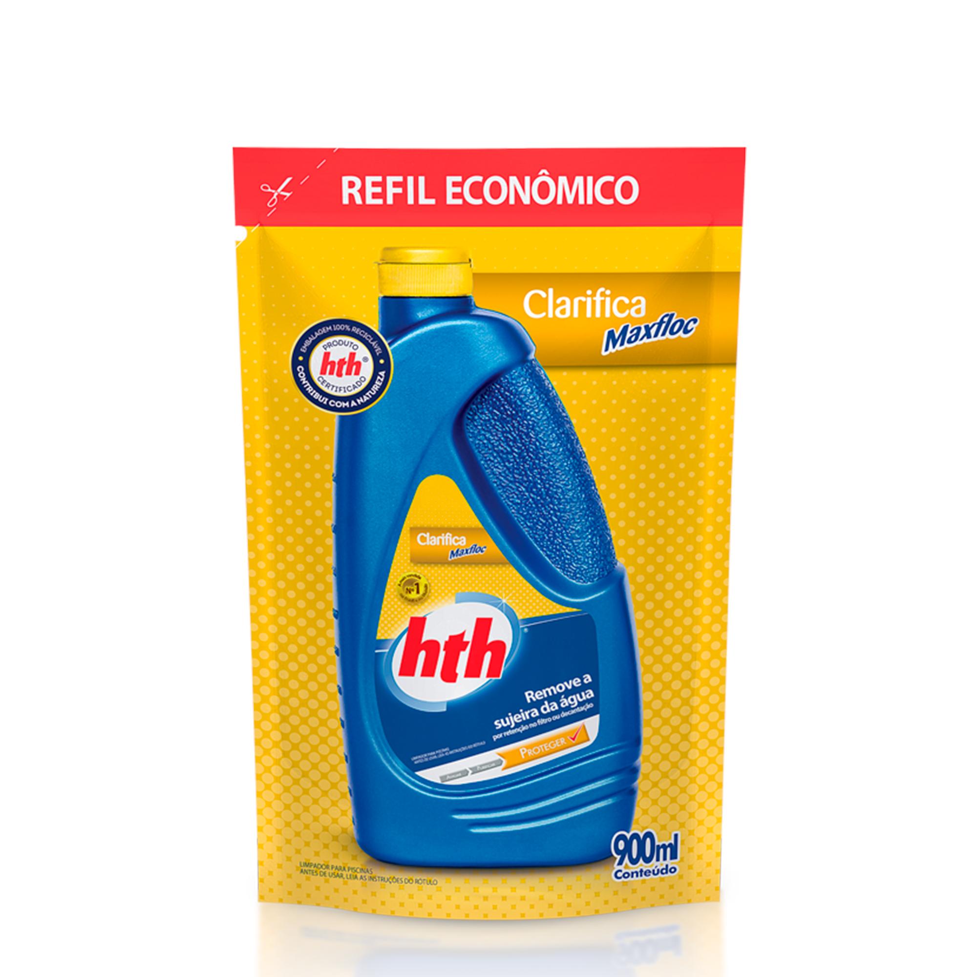 Refil Clarificante para Piscina Maxfloc 900ml Remove a Sujeira da Agua por Retencao no Filtro ou Decantacao - Hth