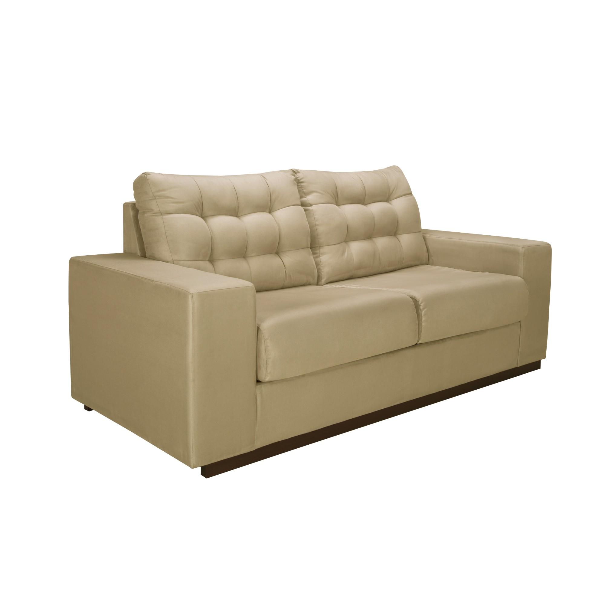 Sofa 2 Lugares Veludo 173x91x93 Bege - Herval