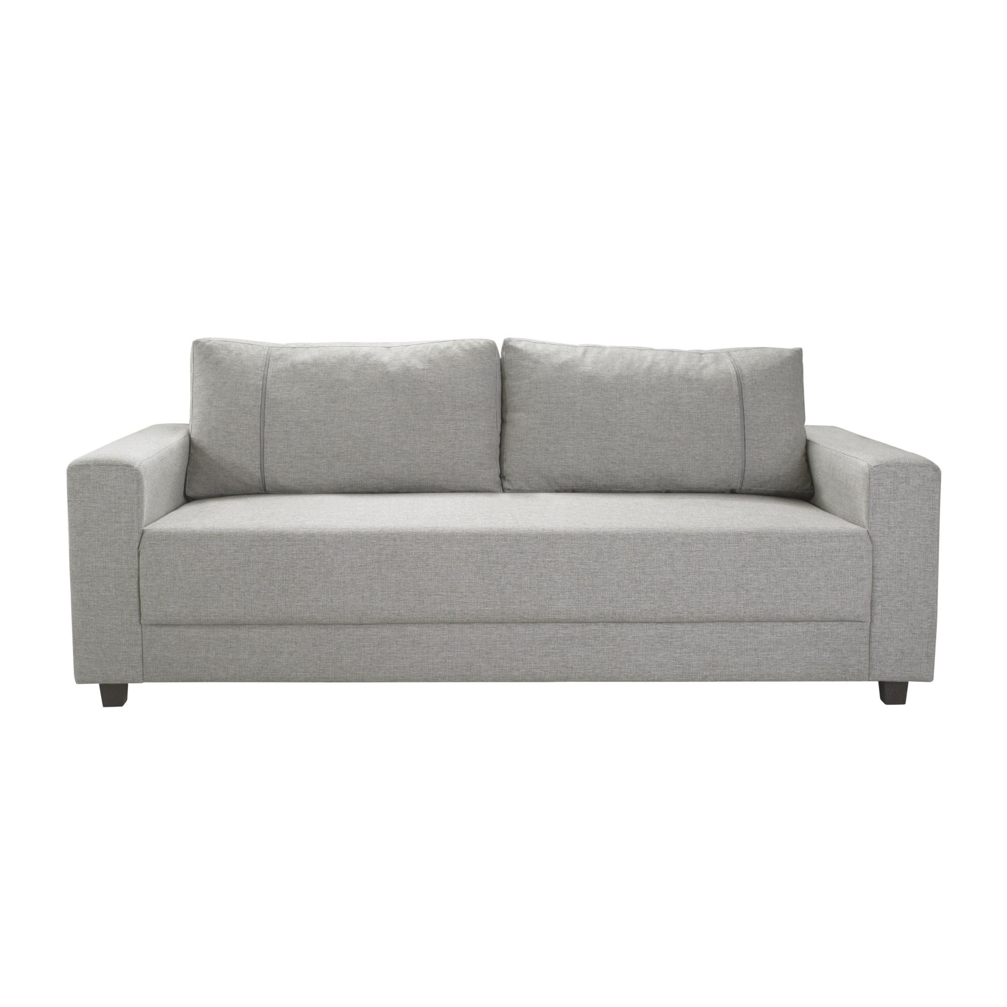 Sofa 3 Lugares Linho 200x85x87 Cinza - Herval