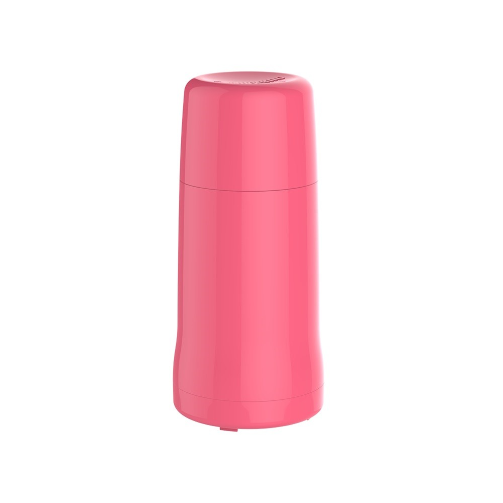 Garrafa Termica de Plastico Rosca 250ml Rosa - Soprano