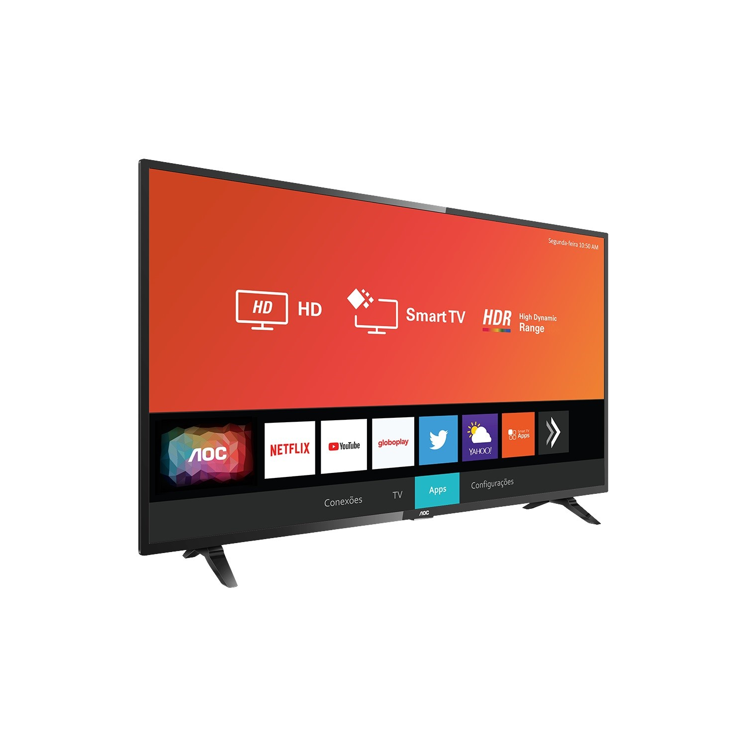 Smart TV LED 32 Aoc HD Wi-Fi 3 HDMI 2 USB - 32S529578G