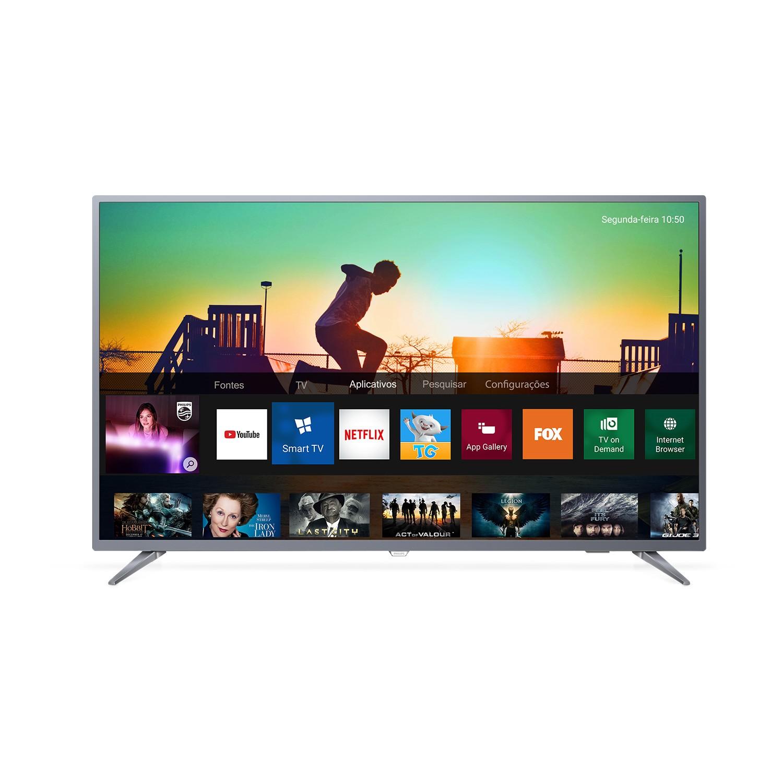 Smart TV LED 50 Philips 4KUltra Wi-Fi 3 HDMI 2 USB - 50PUG651378