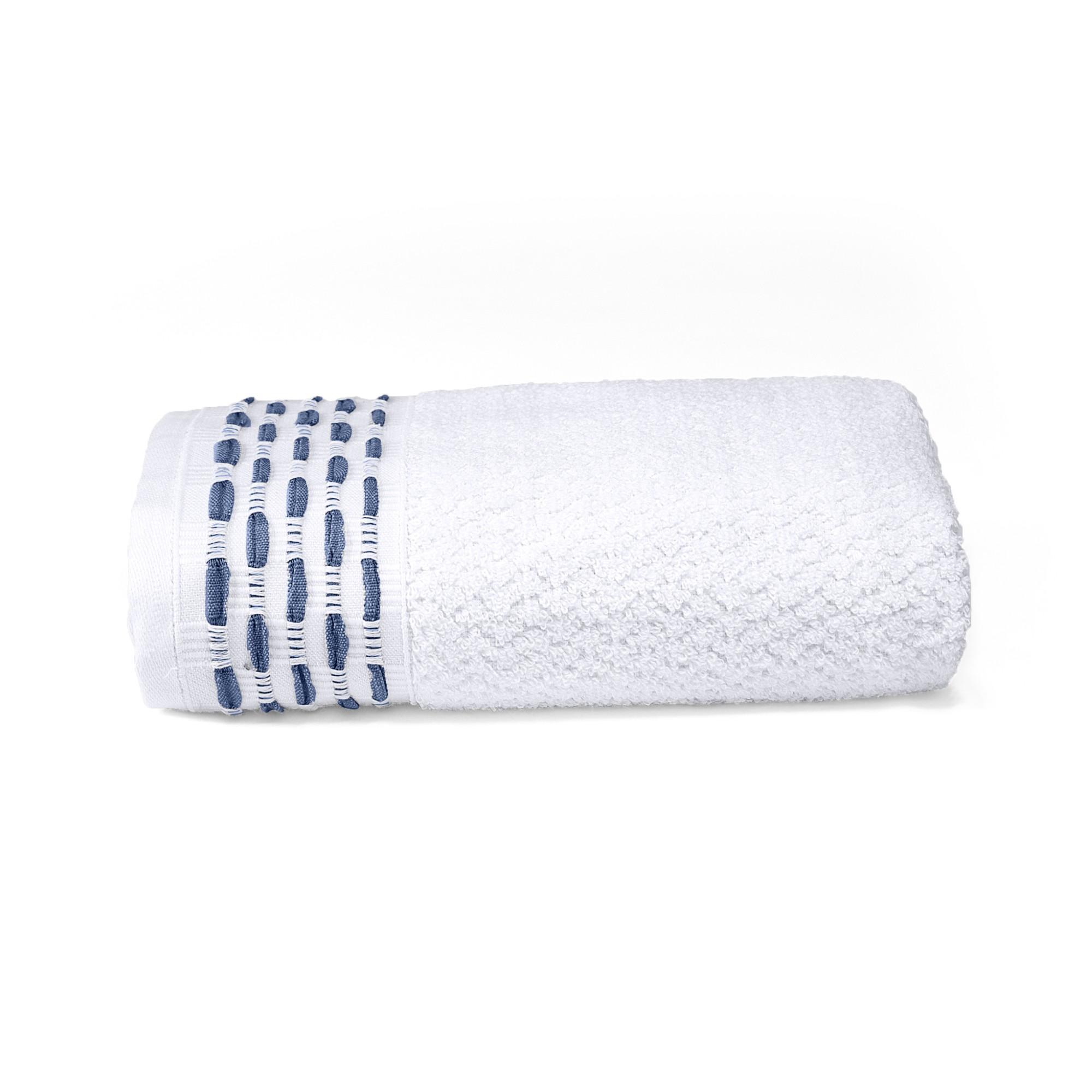 Toalha de Rosto Oxford 100 Algodao 50 x 80 cm Branca - 63620 - Buettner