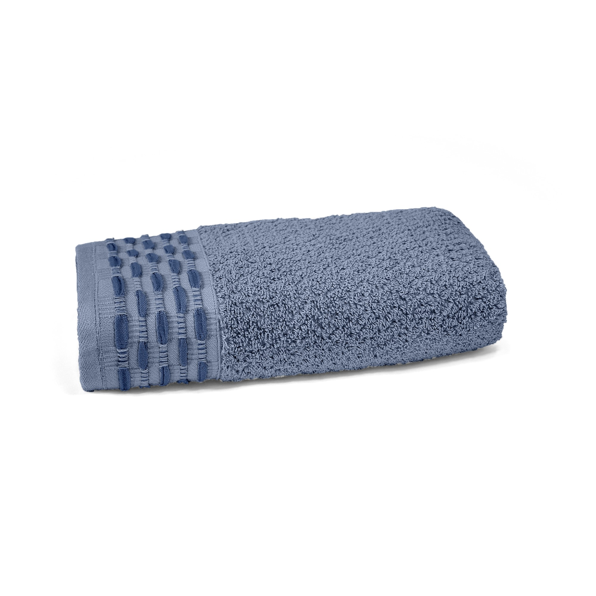 Toalha de Rosto Oxford 100 Algodao 50 x 80 cm Azul - 63621 - Buettner