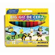 Big Giz de Cera 12 Cores - Acrilex