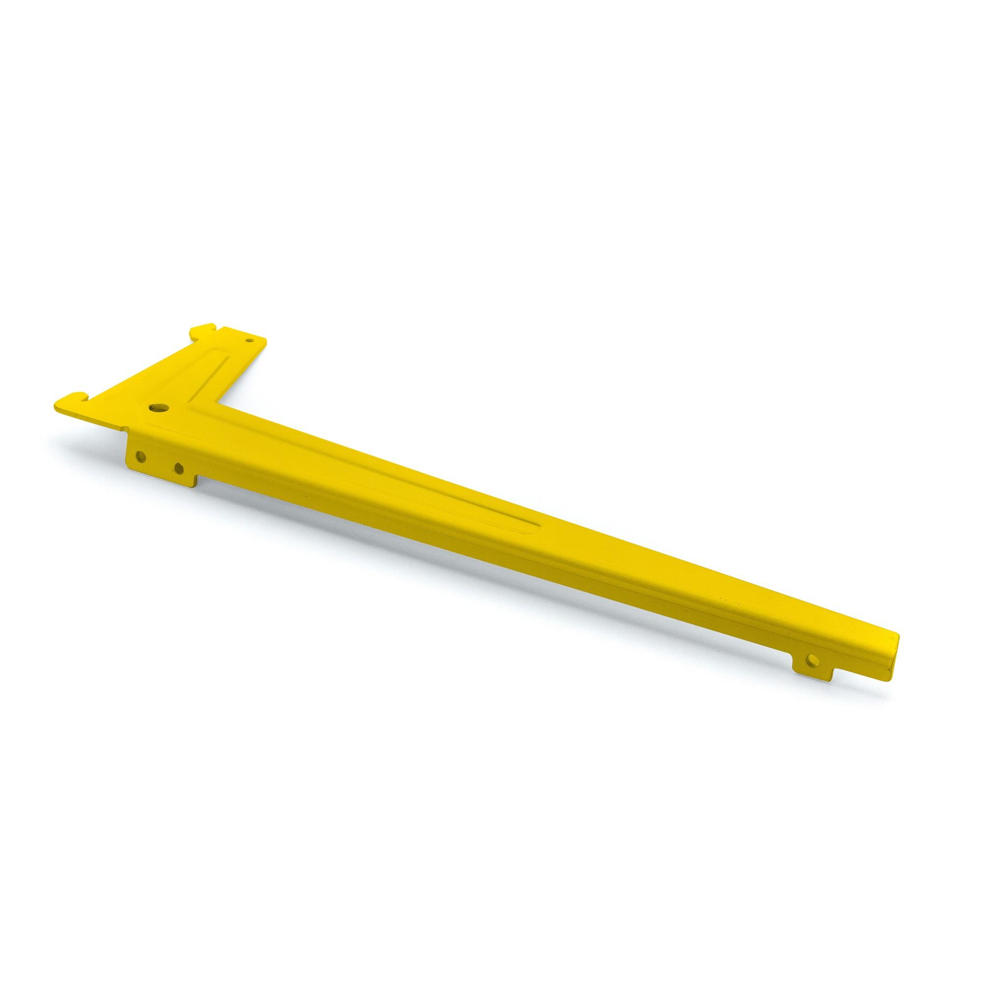 Suporte para Trilho Aco 25cm Encaixe Simples Aba Direita Amarelo - Fico