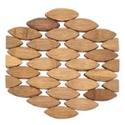 Descanso de Panela de Bambu 19x20cm Marrom Claro - Imporiente