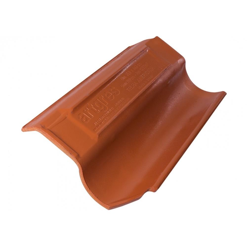 Telha Ceramica Americana 95mm 258x46 cm 2 Faces Caramelo - Artgres