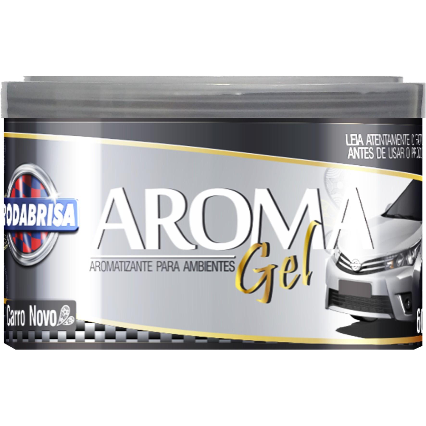 Aromatizante Gel Fragrancia Carro Novo 60 g - 13108 - Rodabrill