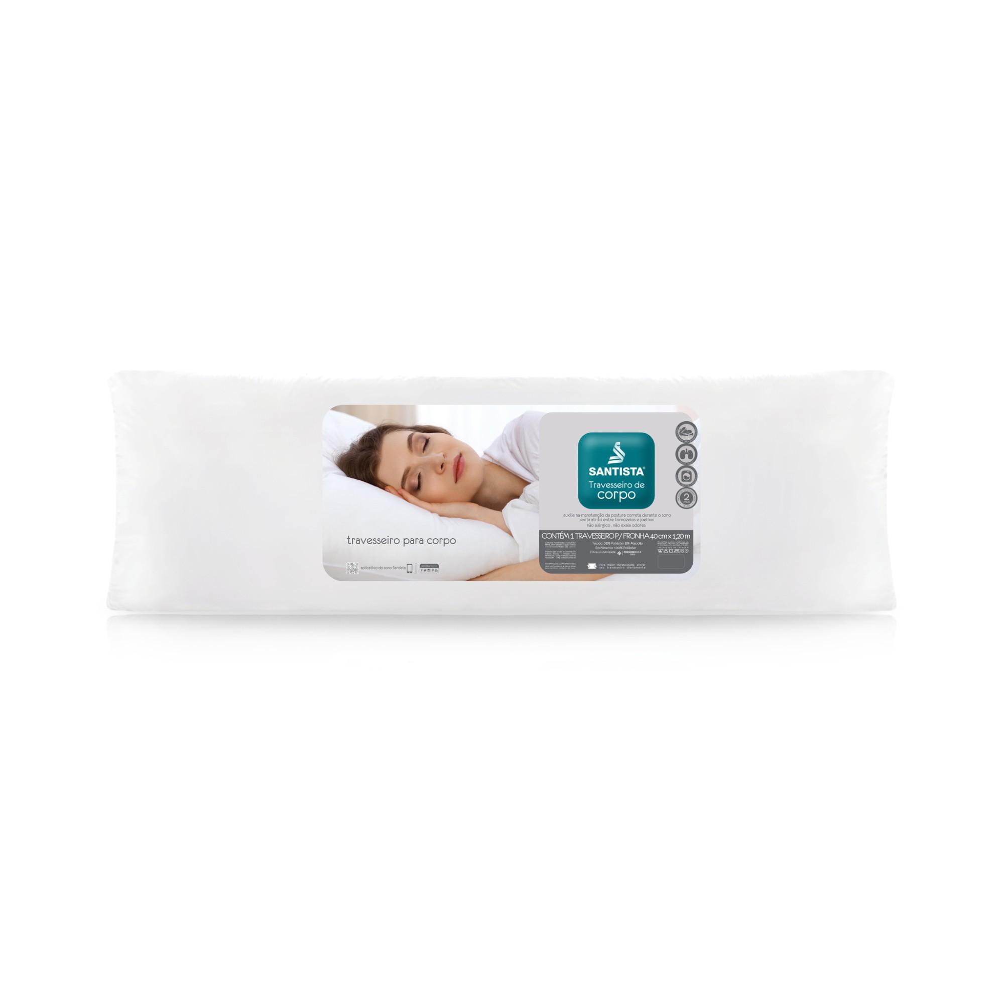 Travesseiro de Corpo Santista Premier 38x120 cm Sem Fronha - Branco