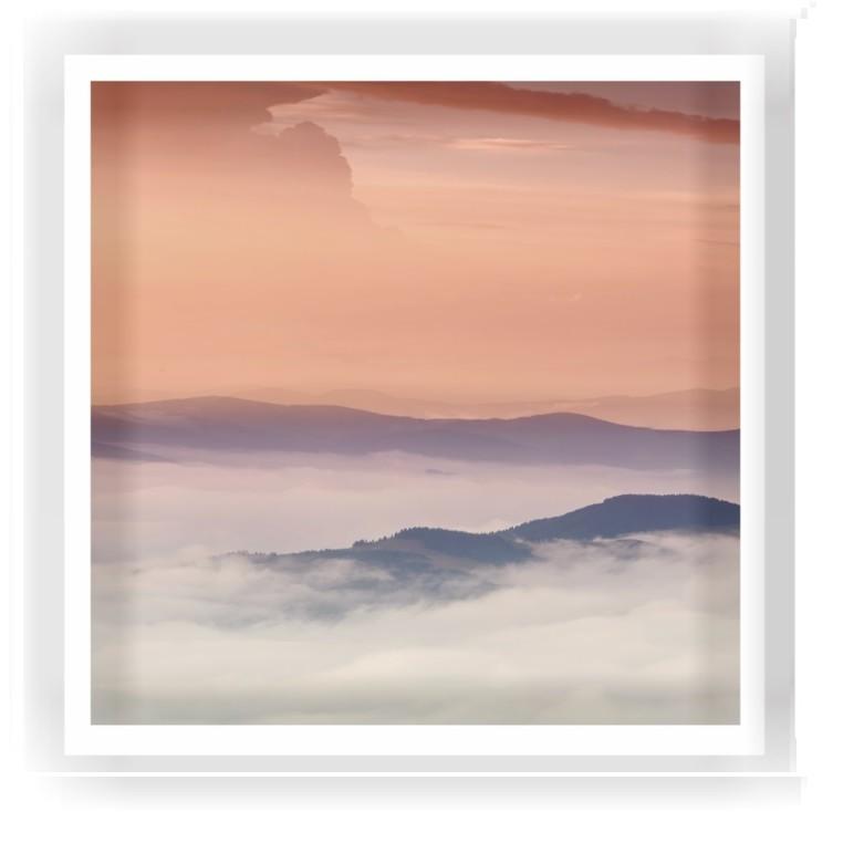Quadro Decorativo 50x50 cm Paisagem 2524-1 - Art Frame
