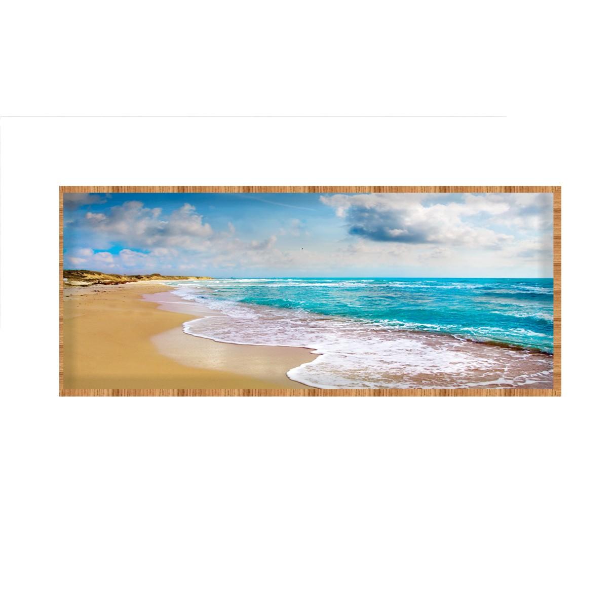 Quadro Decorativo 40x100 cm Mar 1046 - Art Frame