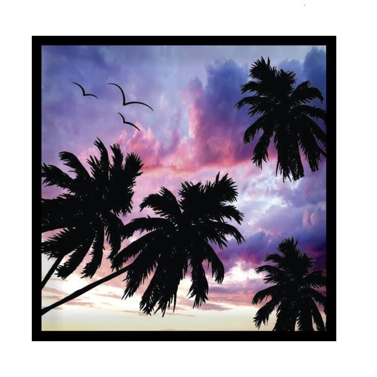 Quadro Decorativo 30x30 cm Coqueiro 2284 - Art Frame