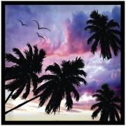 Quadro Decorativo 30x30 cm Coqueiro 228/4 - Art Frame