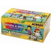 Tinta Guache 6 unidades 15ml cada - Acrilex