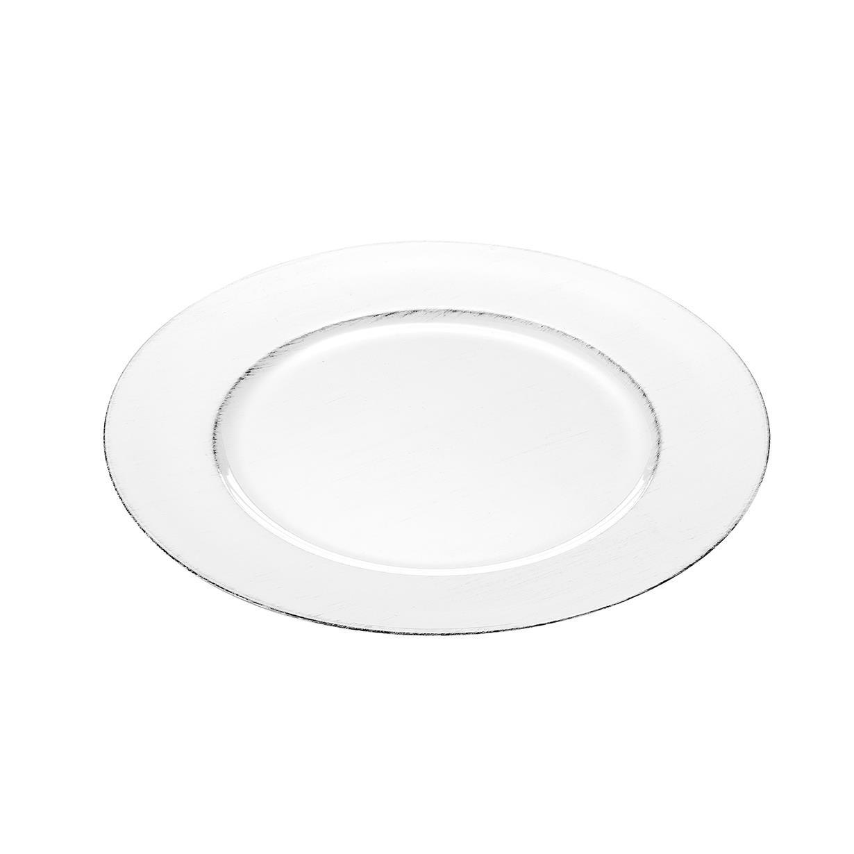 Sousplat Redondo Plastico 25cm Branco - Lyor
