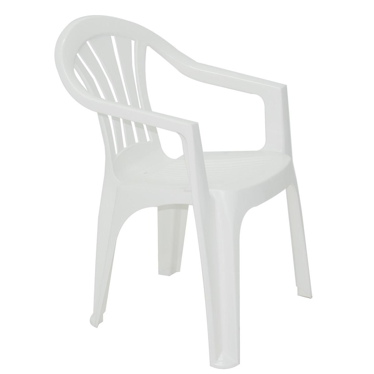 Cadeira Tramontina Branca Bertioga em Polipropileno