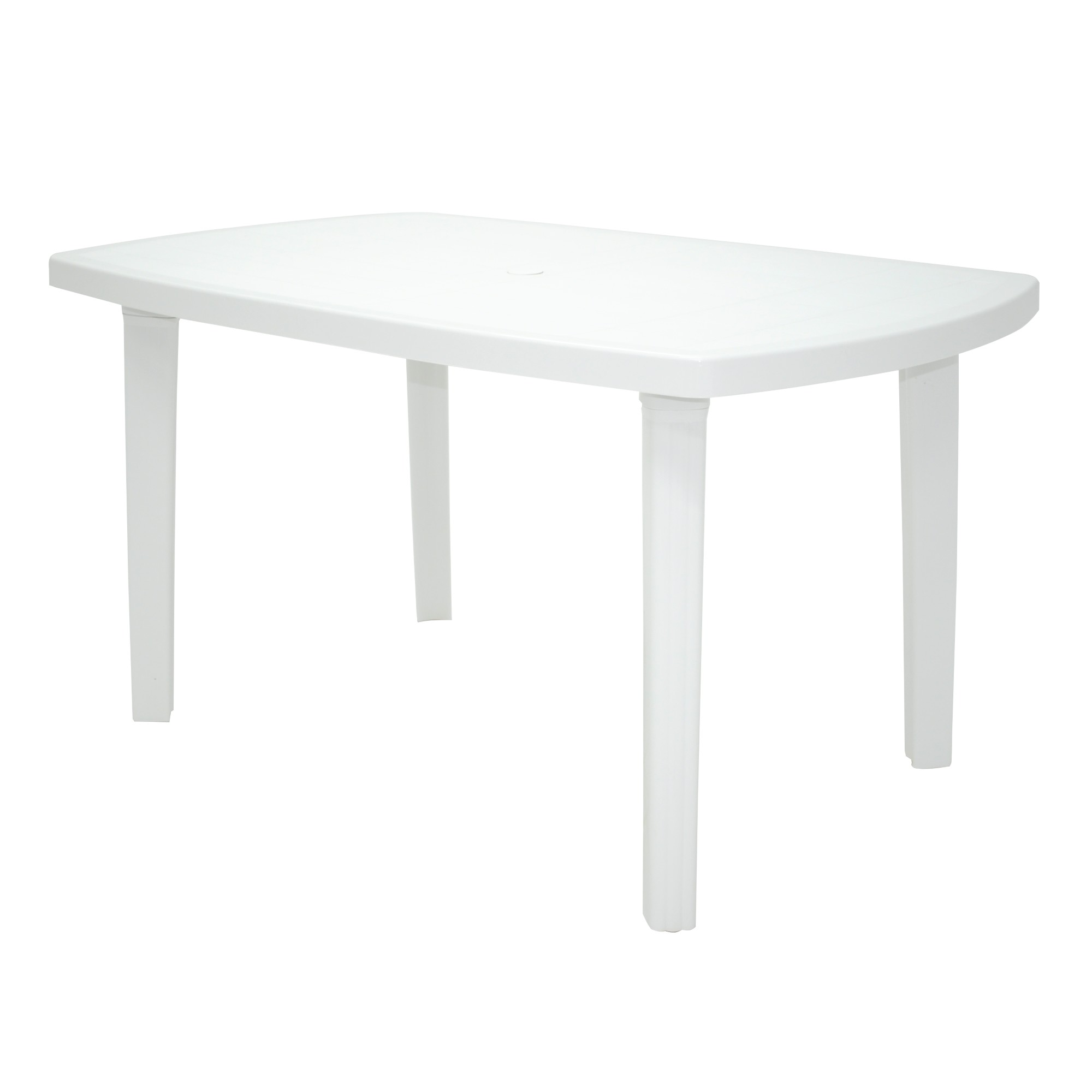 Mesa de Plastico Retangular 136x90cm Camboriu Branca - Tramontina