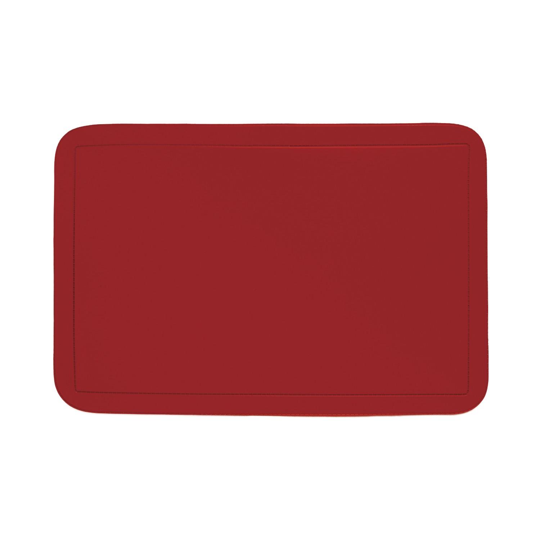 Pano Americano Retangular 44 x 29 cm PVC Vermelho - 151841 - CopaCia