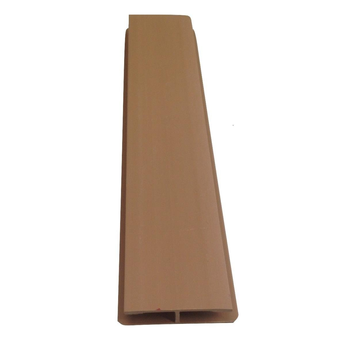 Perfil para PVC Emenda 6 m Marrom escuro - Perfilplast
