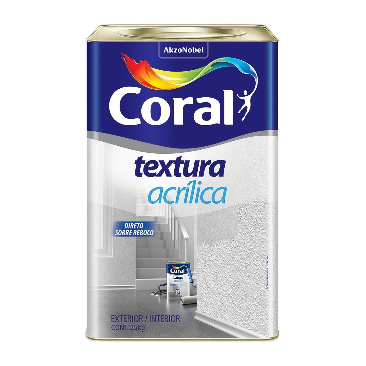 Textura Acrilica Lisa Branca 24kg - Coral