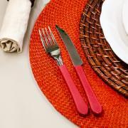 Faqueiro Tramontina Ipanema em Aço Inox 30 Peças Vermelho - 23398788