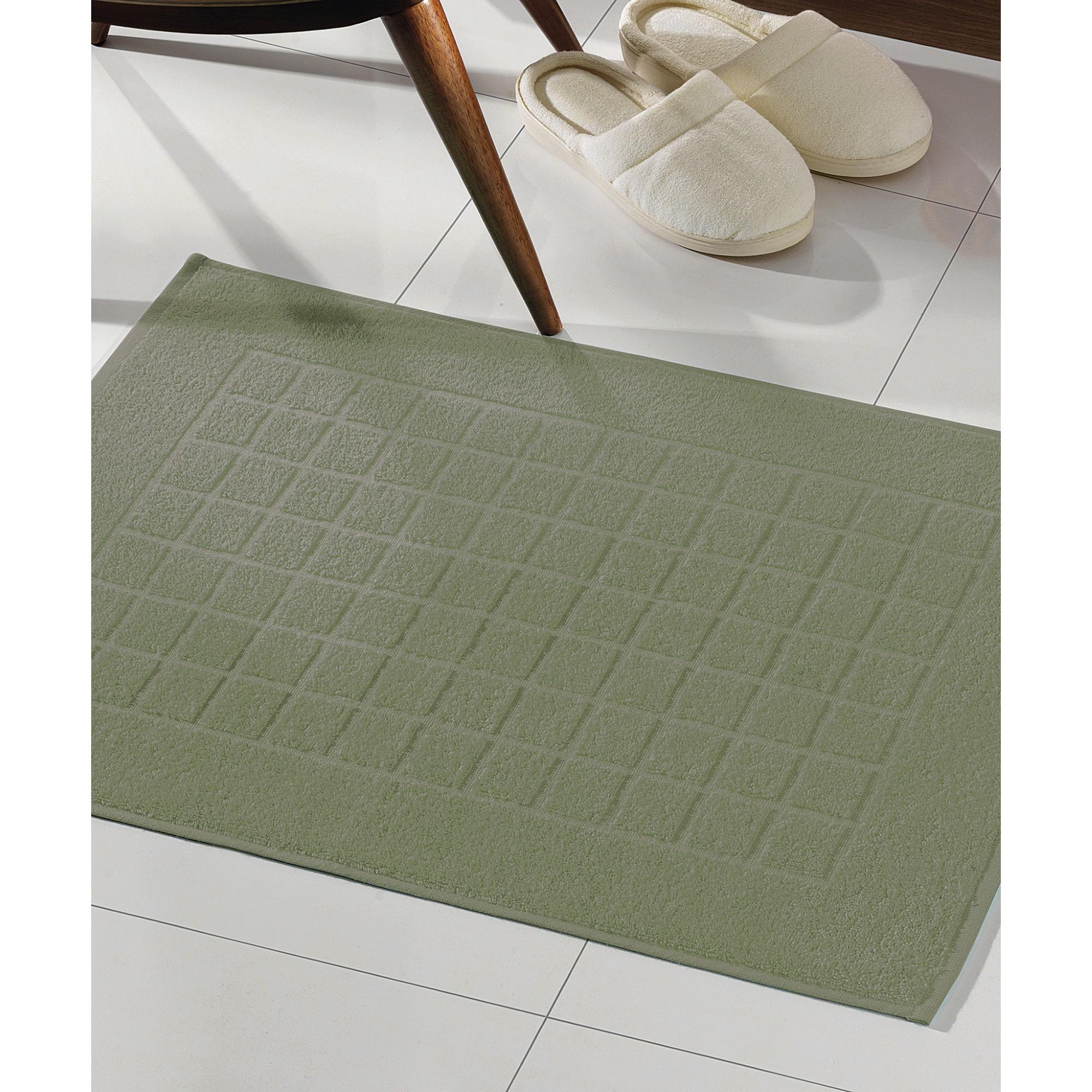 Toalha de Piso Royal Ii Felpudo 45cm x 70cm 100 algodao Verde - Dohler