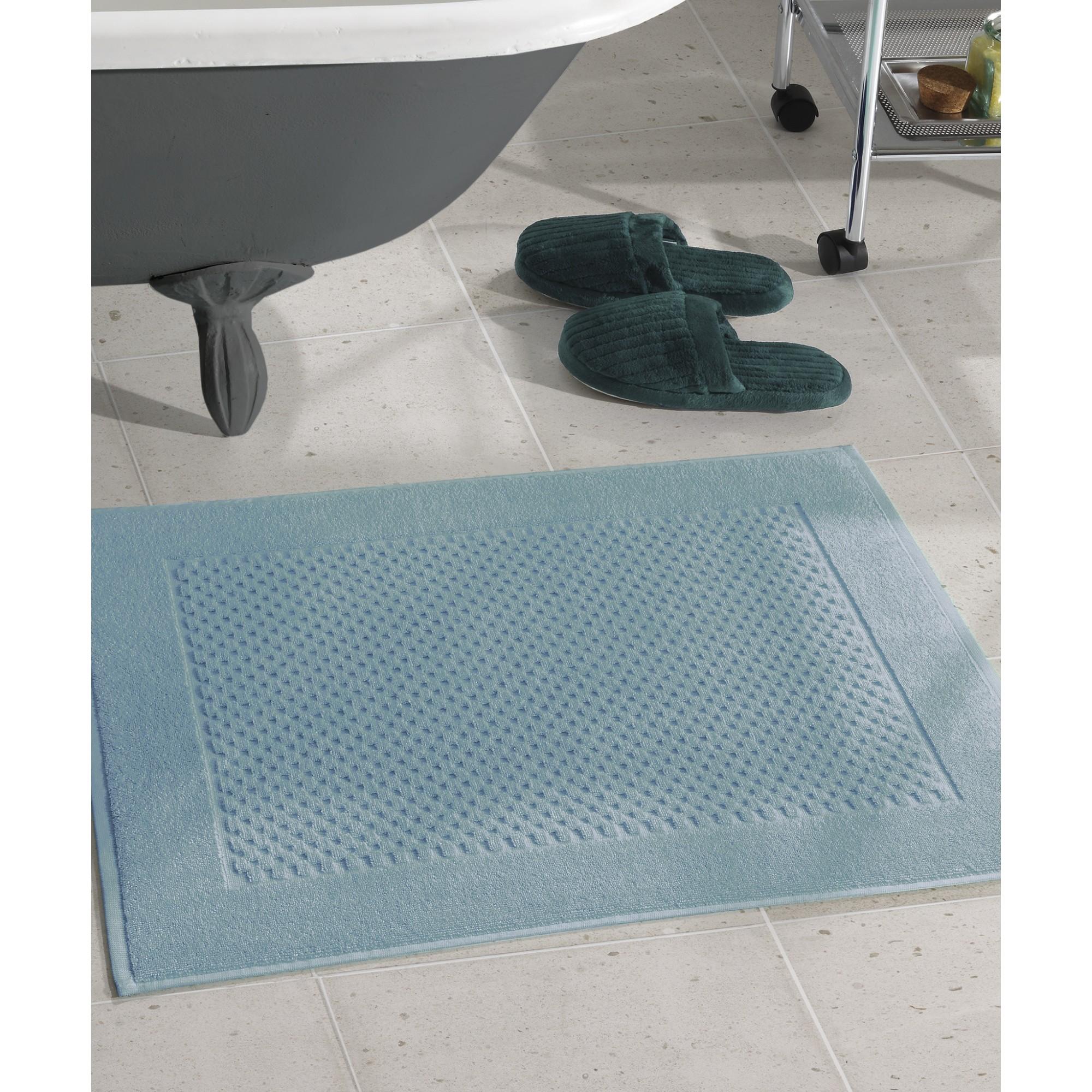 Toalha de Piso Prime Felpudo 50cm x 70cm 100 Algodao Azul - Dohler