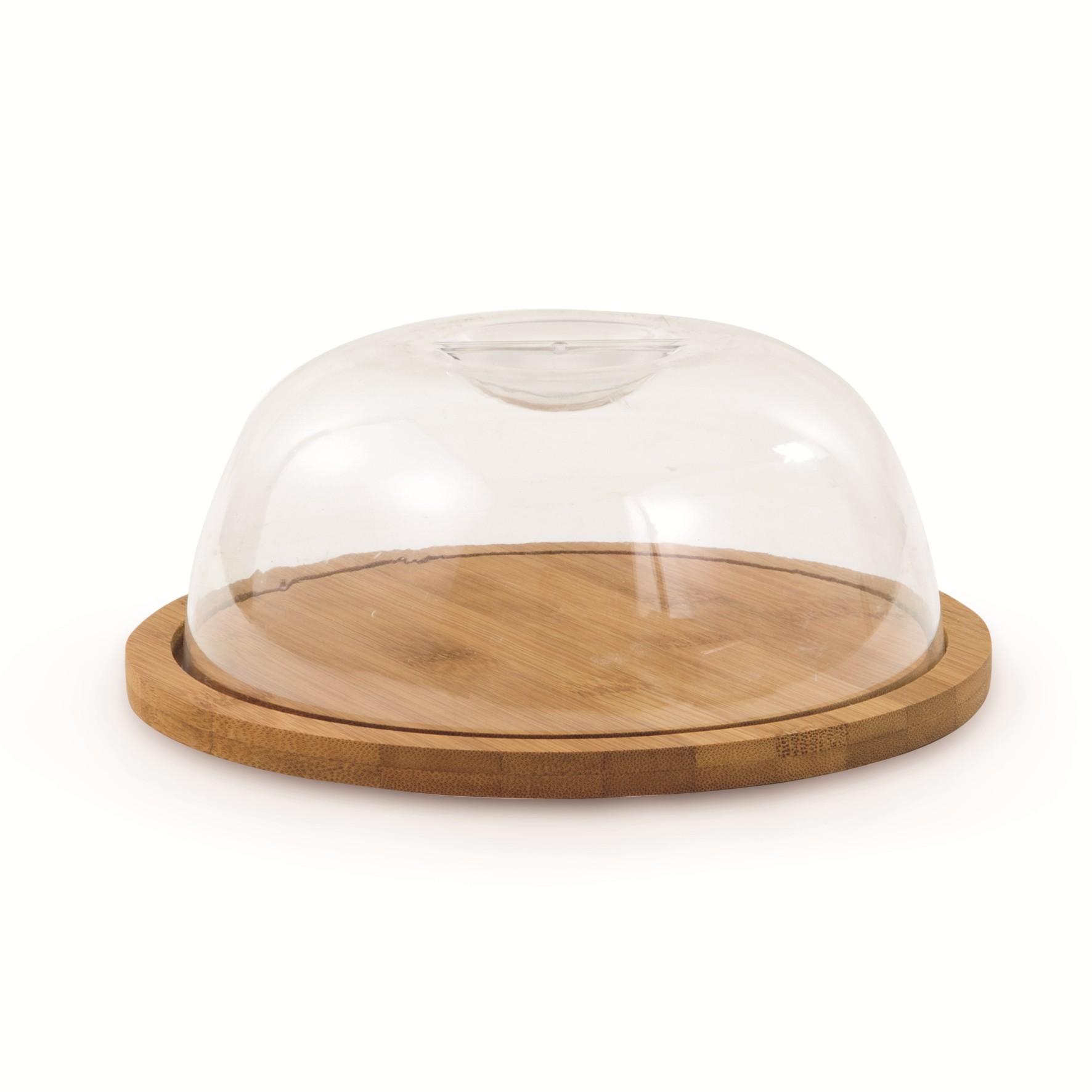 Porta-queijo Bambu e Plastico 19cm - Mimo Style