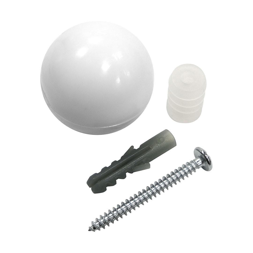 Batente Branco Bola para Porta - 9004 - Bemfixa