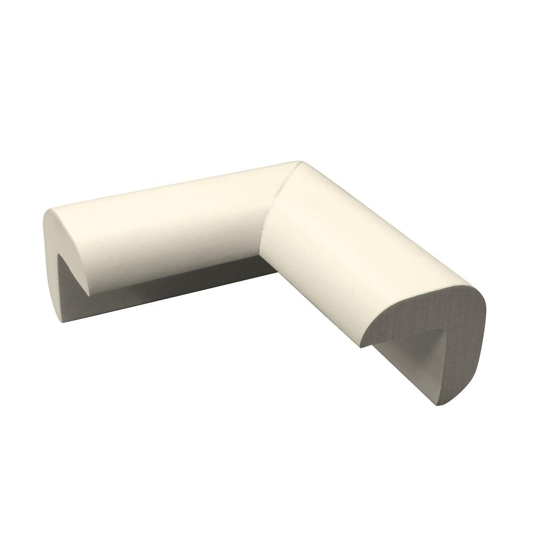 Protetor para quina de Borracha Autoadesivo Em L 50x50 mm - Bemfixa