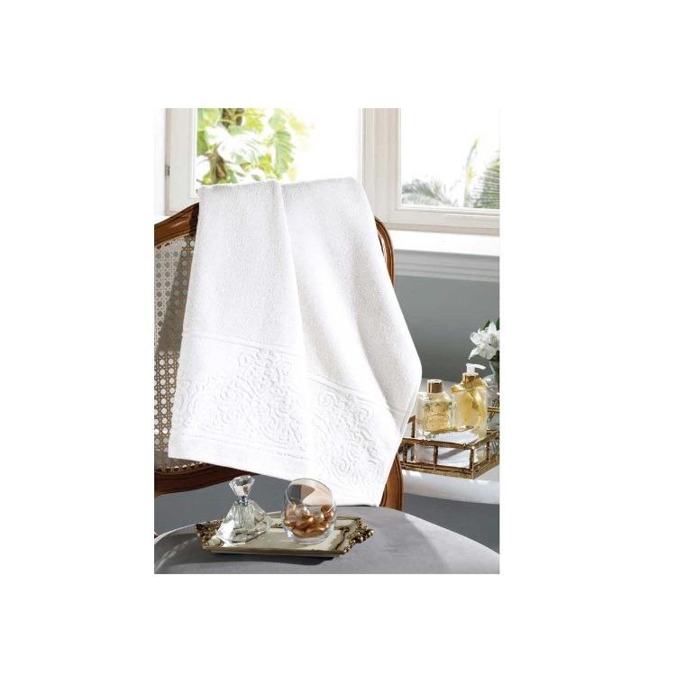 Toalha de Banho Jacguard Confort Felpudo Branco - Dohler