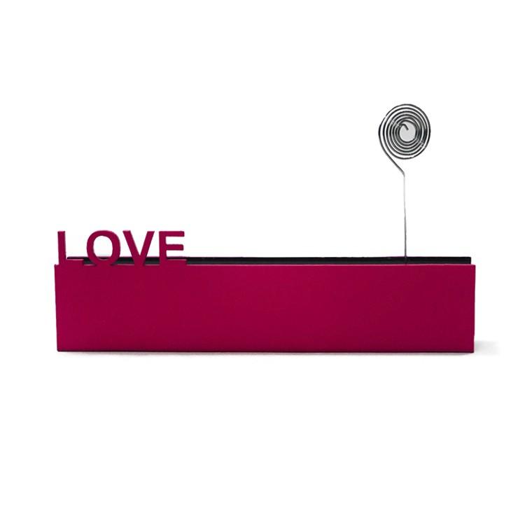 Enfeite Placa Retangular 20cm Love Rosa pink - Az Design