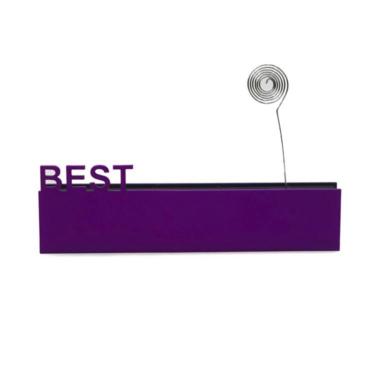 Enfeite Placa Retangular 20cm Best Roxo - Az Design